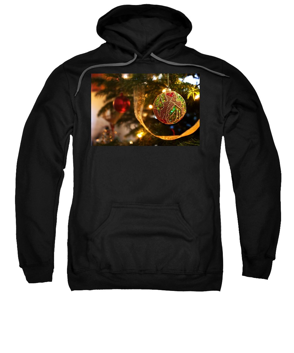 Christmas Sweatshirt featuring the photograph Christmas Tree Decorations by Mal Bray
