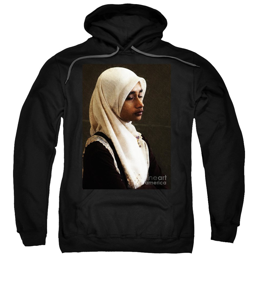 Hijab Sweatshirt featuring the photograph Deep In Thought by Sheila Smart Fine Art Photography