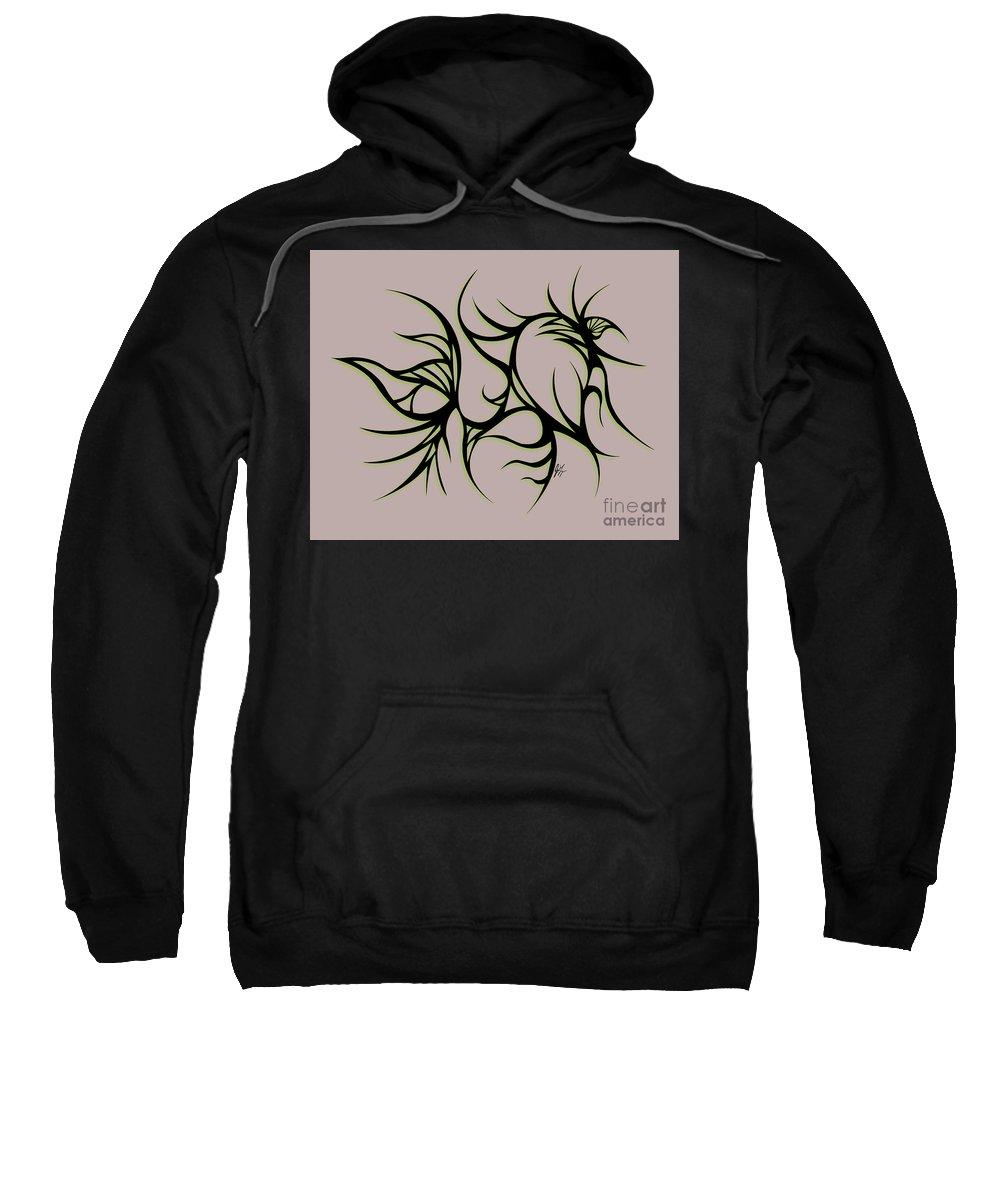 Black Sweatshirt featuring the digital art Divine Havoc by Jamie Lynn