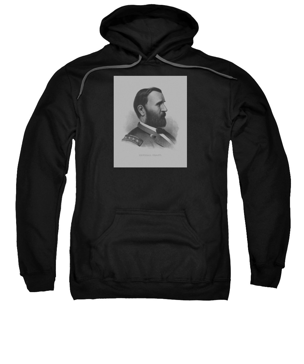 General Grant Sweatshirt featuring the mixed media General Grant by War Is Hell Store