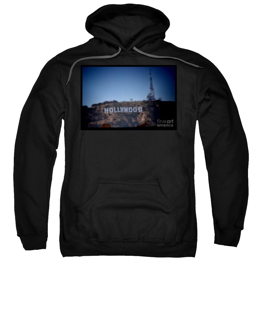Hollywood Sweatshirt featuring the photograph Hollywood Sign by RJ Aguilar