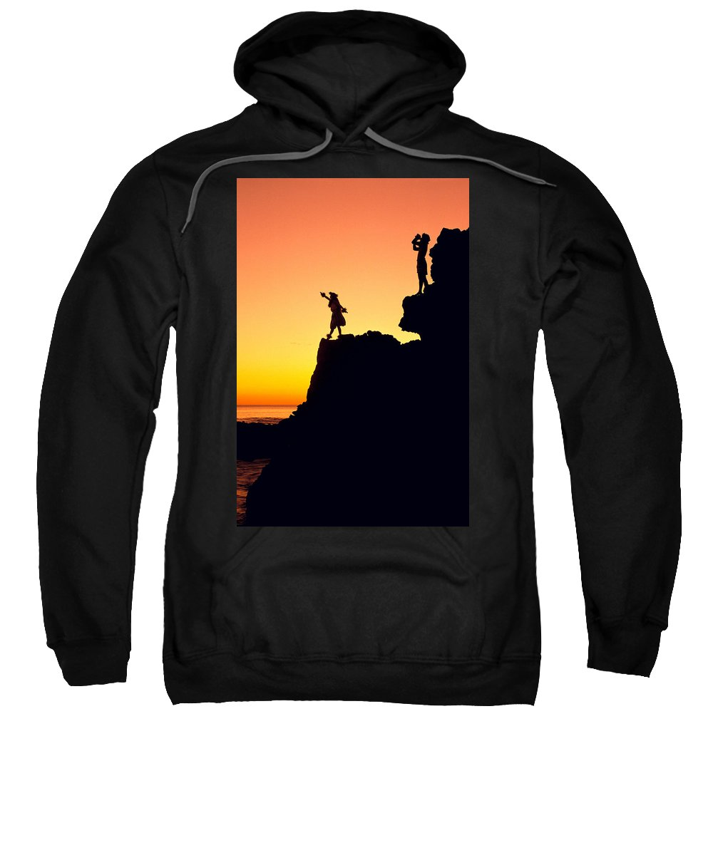 Aloha Sweatshirt featuring the photograph Hula Silhouette by William Waterfall - Printscapes