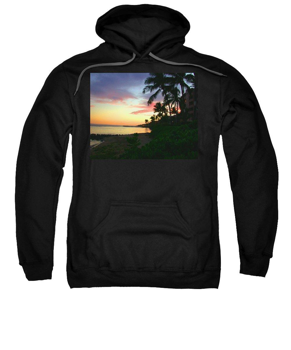 Sunset Sweatshirt featuring the photograph Island Sunset by Angie Hamlin