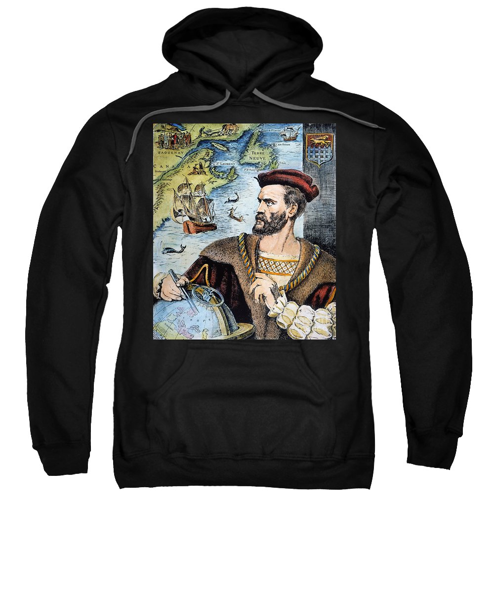 16th Century Sweatshirt featuring the photograph Jacques Cartier (1491-1557) by Granger