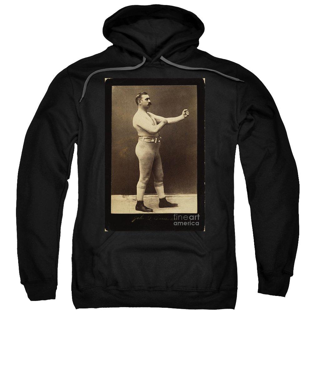 19th Century Sweatshirt featuring the photograph John L. Sullivan (1858-1918) by Granger