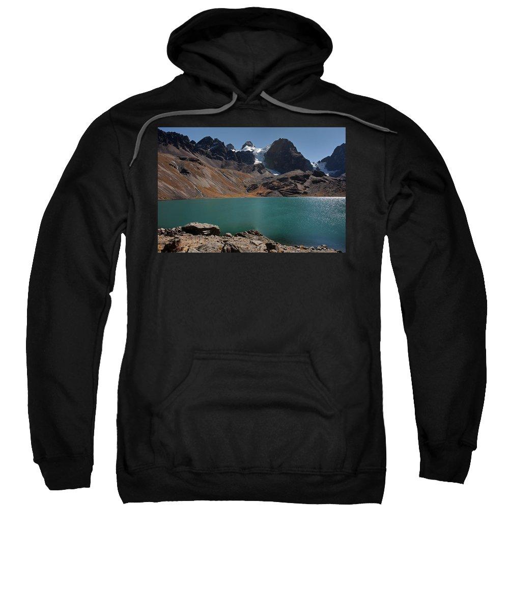 Laguna Sweatshirt featuring the photograph Laguna Chiar Khota In Condoriri Mountains by Aivar Mikko