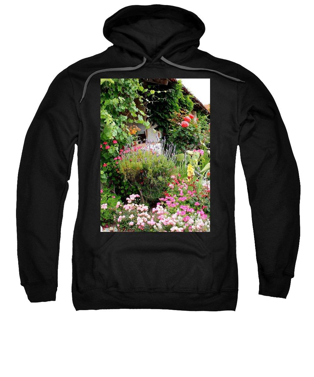 Garden Sweatshirt featuring the photograph Mission Garden by Carol Groenen