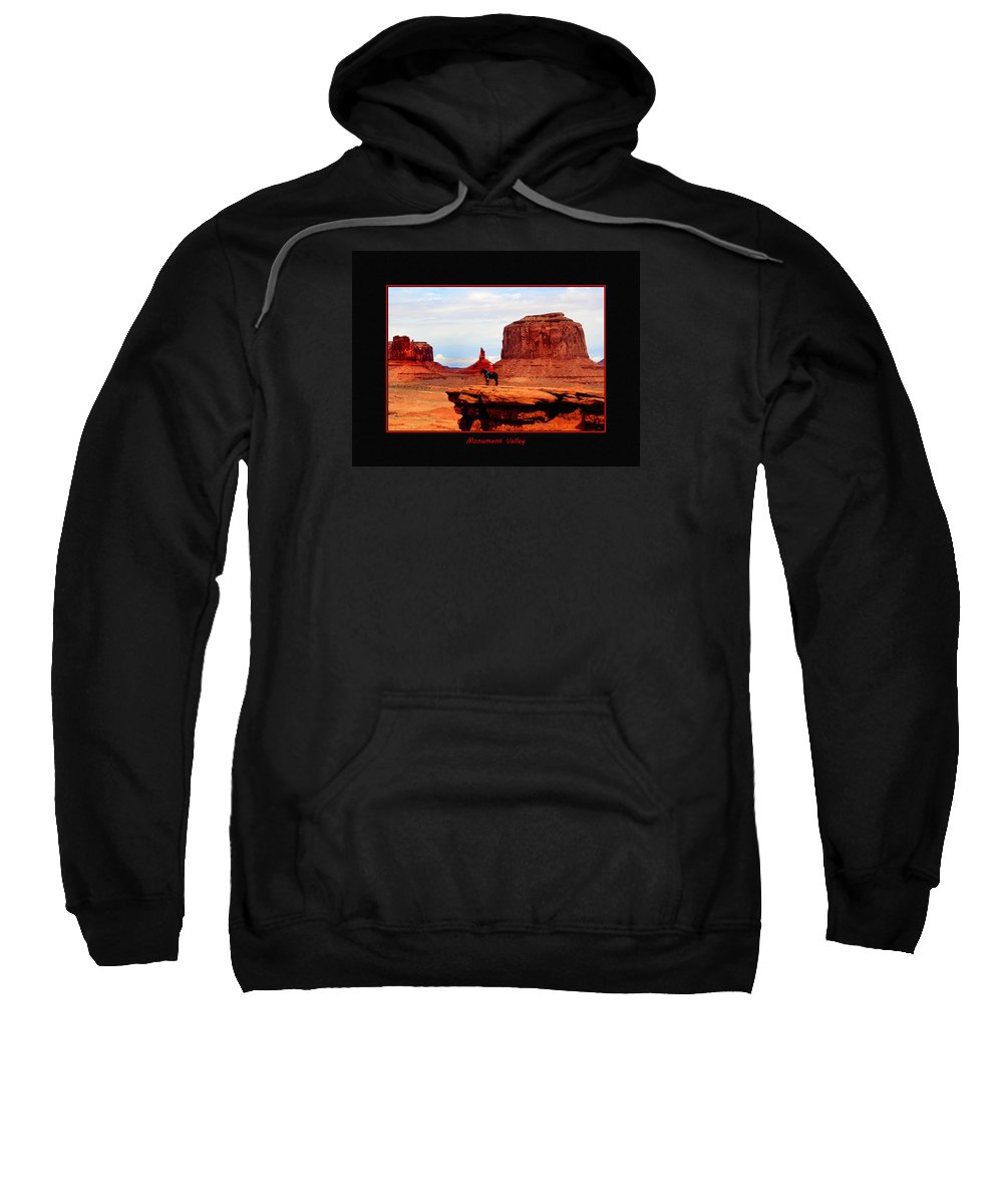 Utah Sweatshirt featuring the photograph Monument Valley II by Tom Prendergast