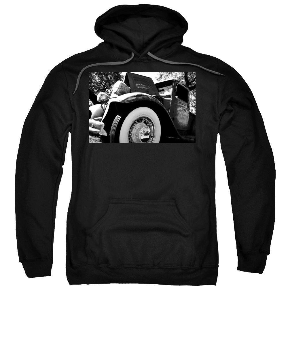 Port Washington Fishday Car Show Sweatshirt featuring the photograph Old Truck by Jamie Lynn