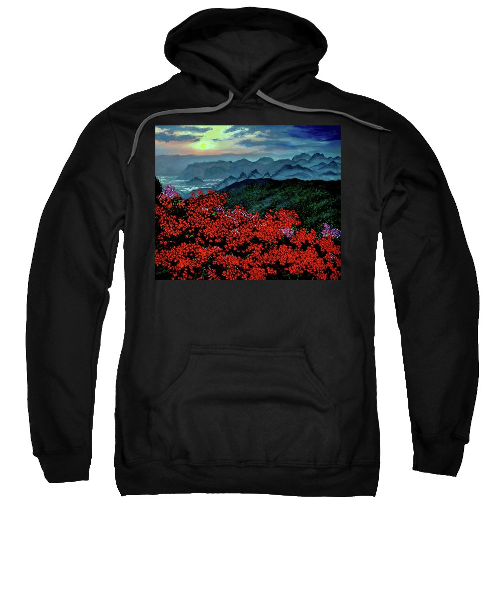 Paradise Sweatshirt featuring the painting Paradise by Stan Hamilton