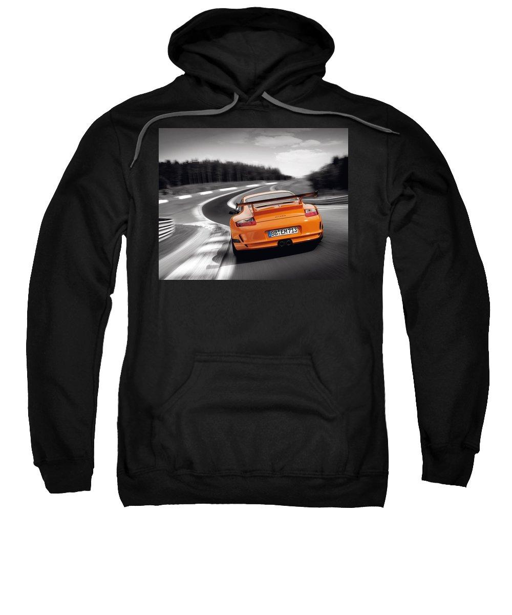 Porsche Sweatshirt featuring the digital art Porsche by Mery Moon