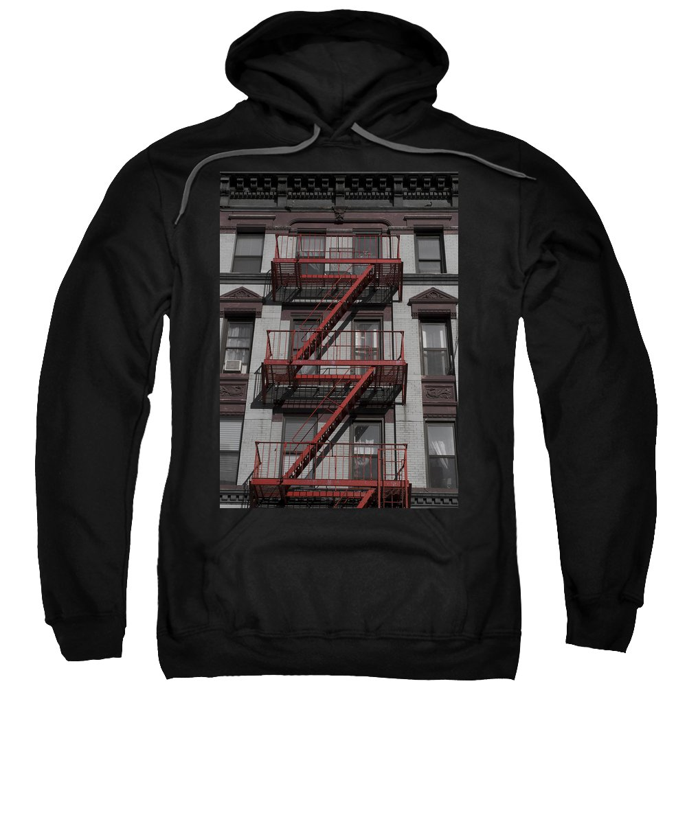 Fire Sweatshirt featuring the photograph 2 Red Zs by Henri Irizarri
