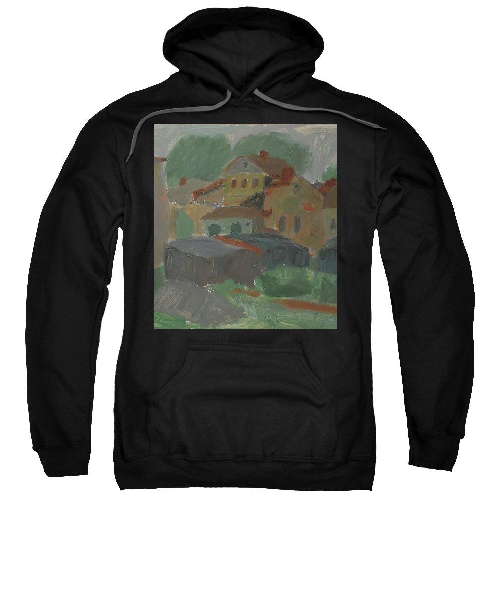 Street Sweatshirt featuring the painting Old House by Robert Nizamov