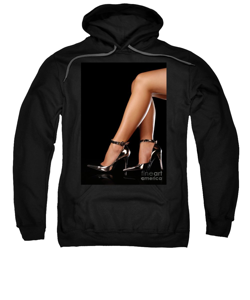 Sexy Sweatshirt featuring the photograph Sexy Shoes by Oleksiy Maksymenko