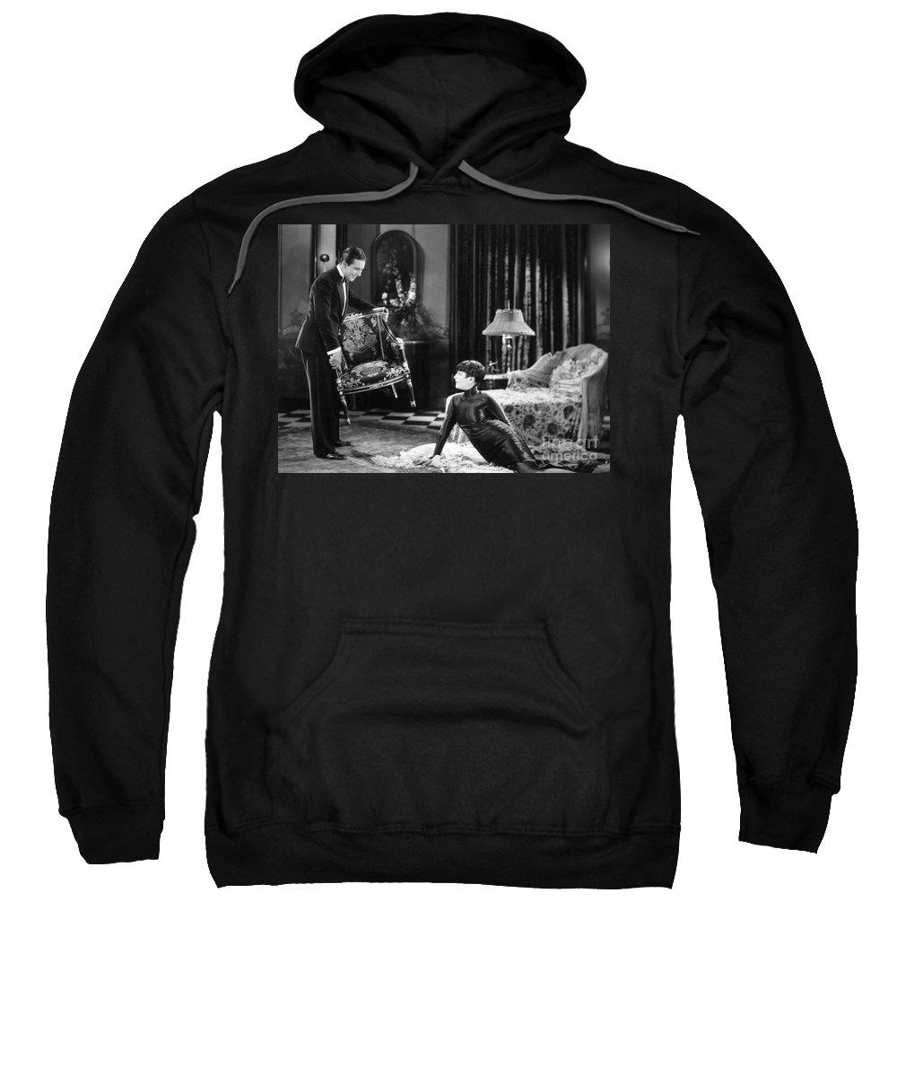-ecq- Sweatshirt featuring the photograph Silent Still: Man & Woman by Granger