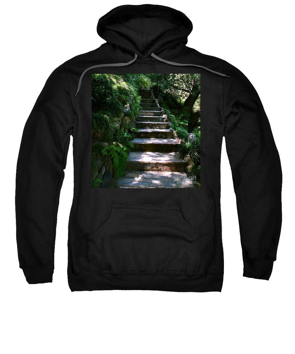 Nature Sweatshirt featuring the photograph Stone Steps by Dean Triolo