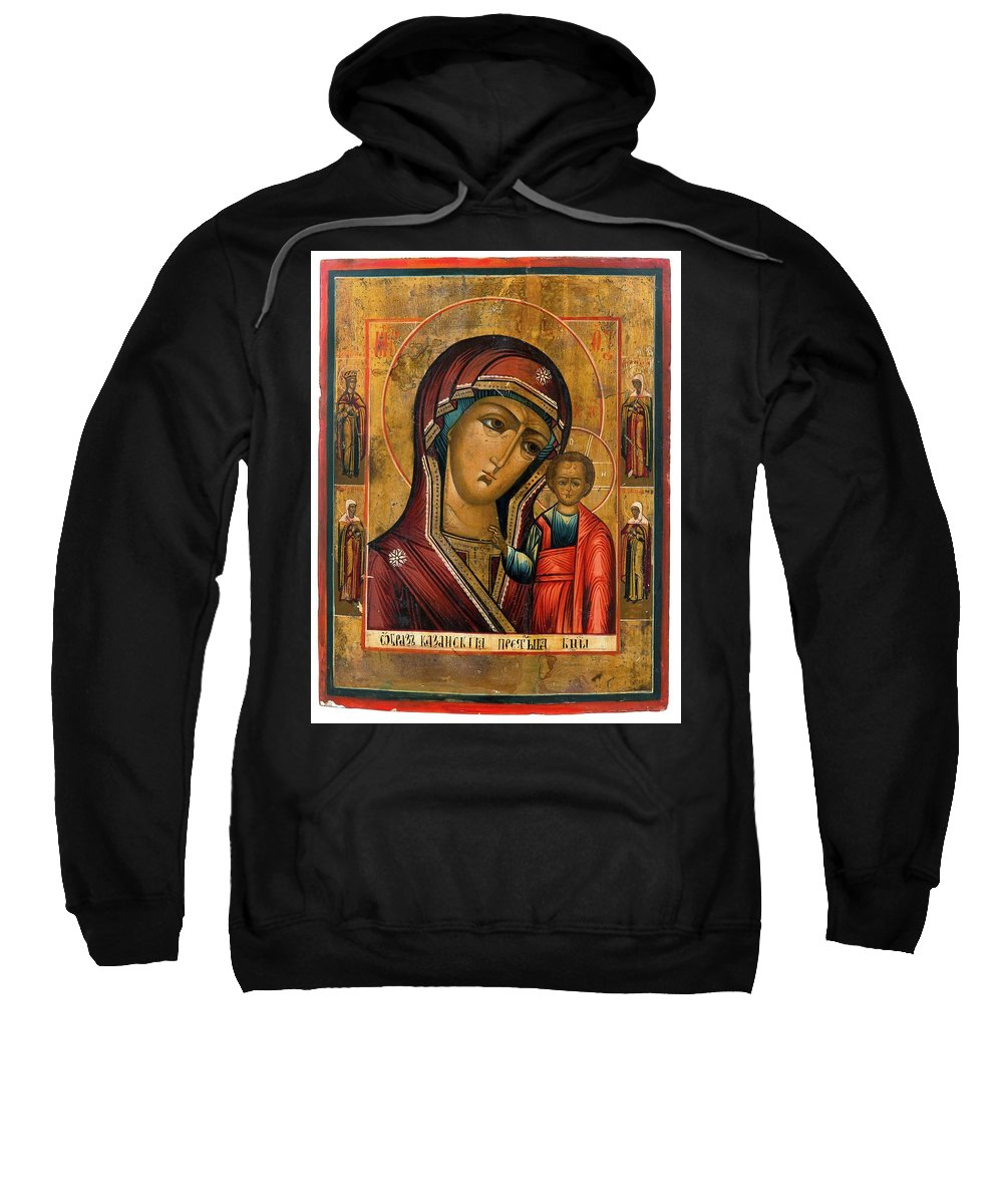 The Mother And Child 2 Sweatshirt featuring the painting The Mother And Child by MotionAge Designs