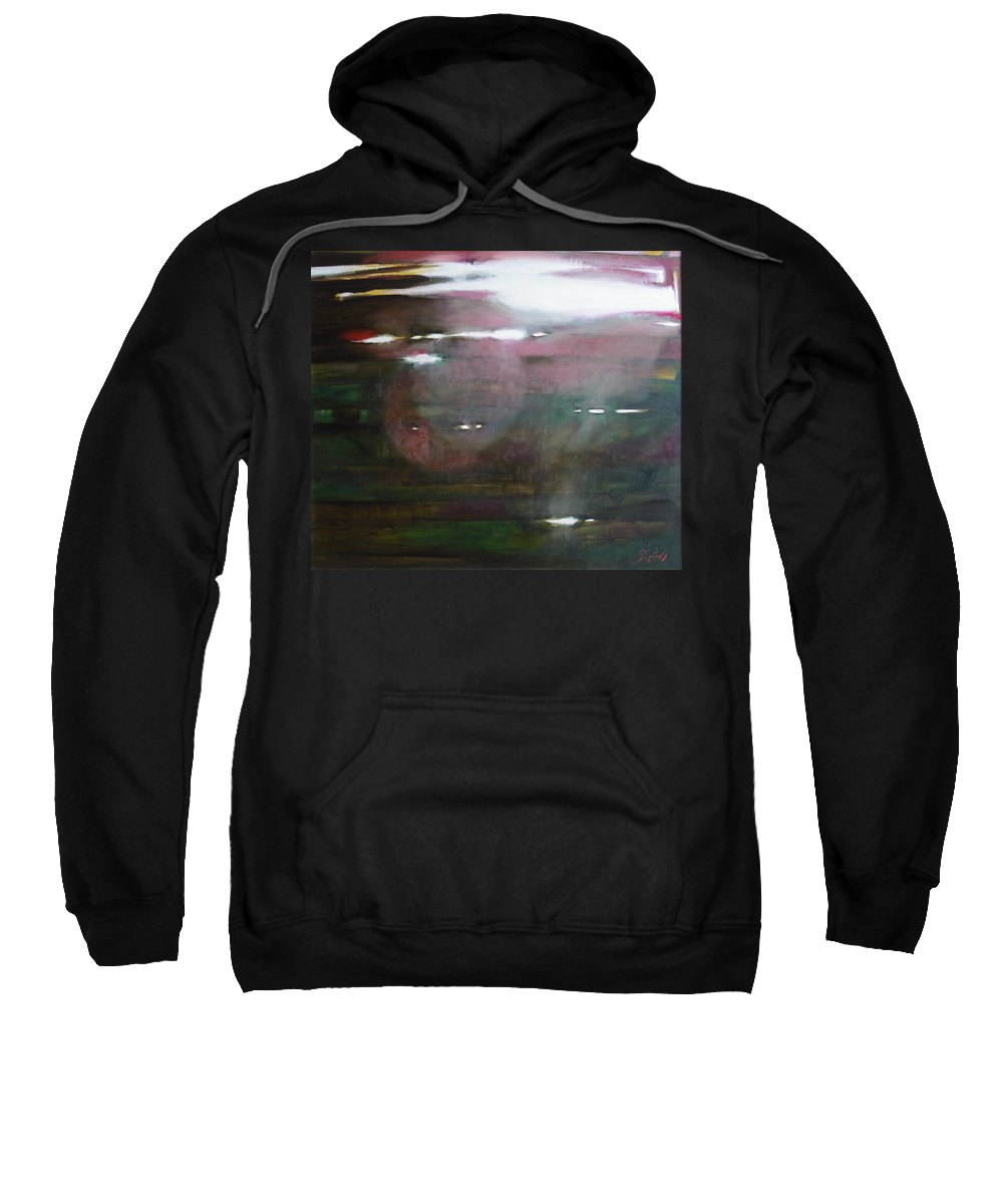 Oil Sweatshirt featuring the painting The Parallel World by Sergey Ignatenko