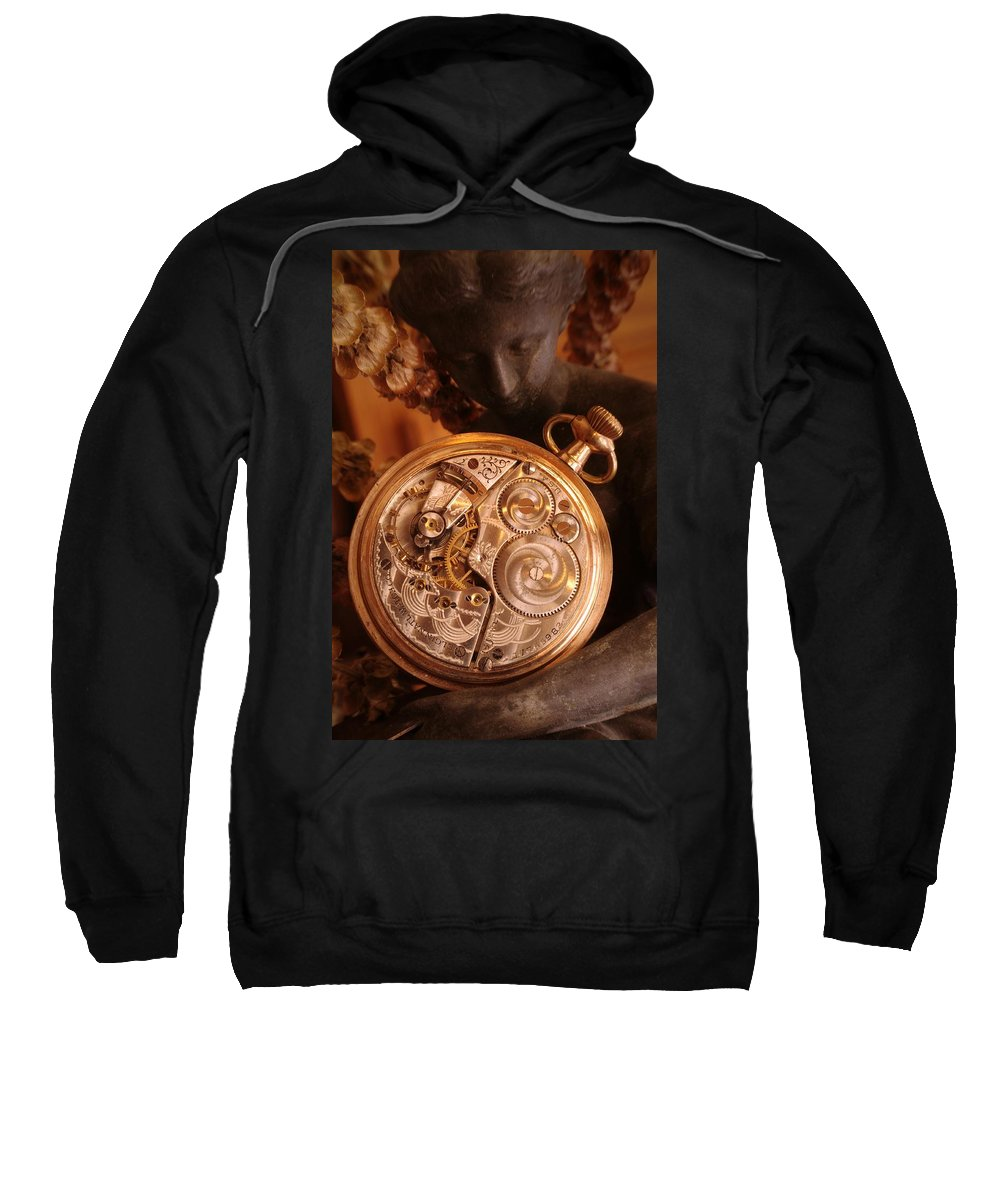 Watch Sweatshirt featuring the photograph Time... by Arthur Miller