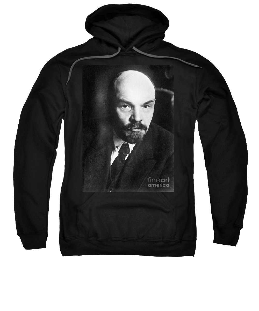 1919 Sweatshirt featuring the photograph Vladimir Lenin (1870-1924) by Granger