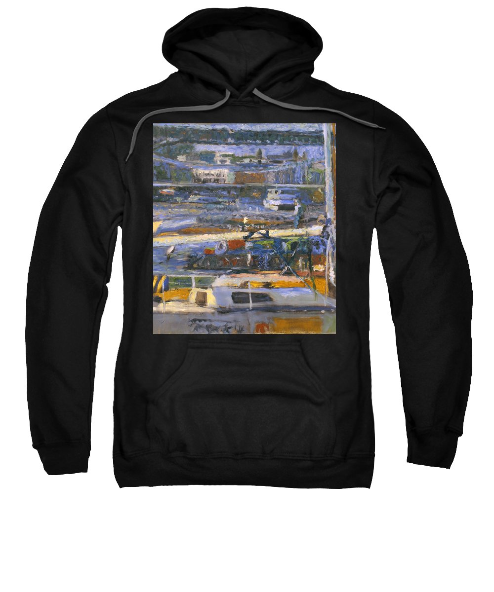 Bay Sweatshirt featuring the painting Regatta by Robert Nizamov