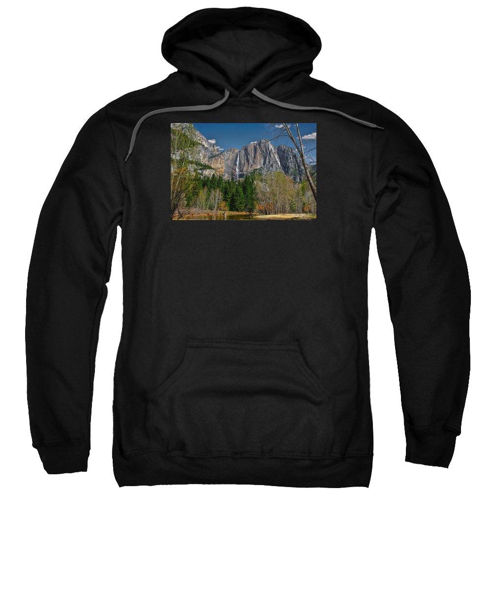 California Sweatshirt featuring the photograph Yosemite Falls by Leon Roland