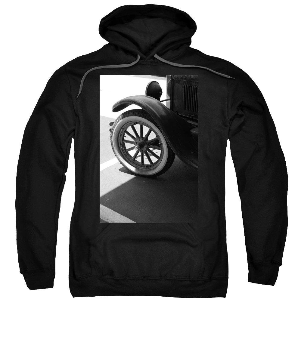 Black And White Sweatshirt featuring the photograph 1926 Model T Ford by Rob Hans