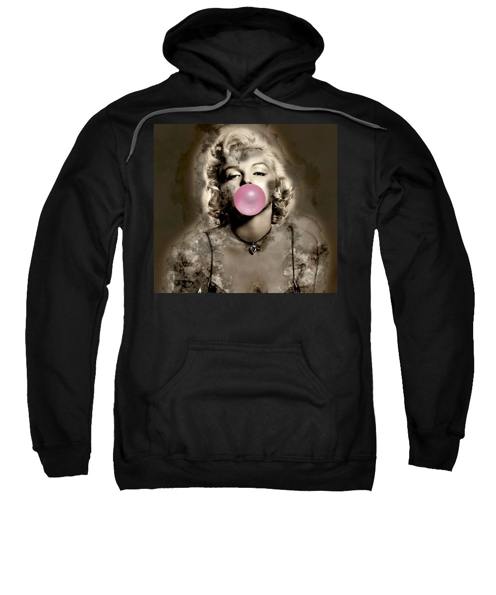 Marilyn Monroe Sweatshirt featuring the mixed media Marilyn Monroe by Marvin Blaine
