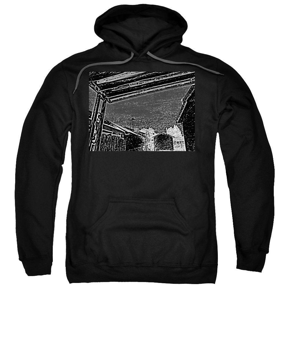 Abstract Sweatshirt featuring the digital art 2011 Moon 4 by Lenore Senior