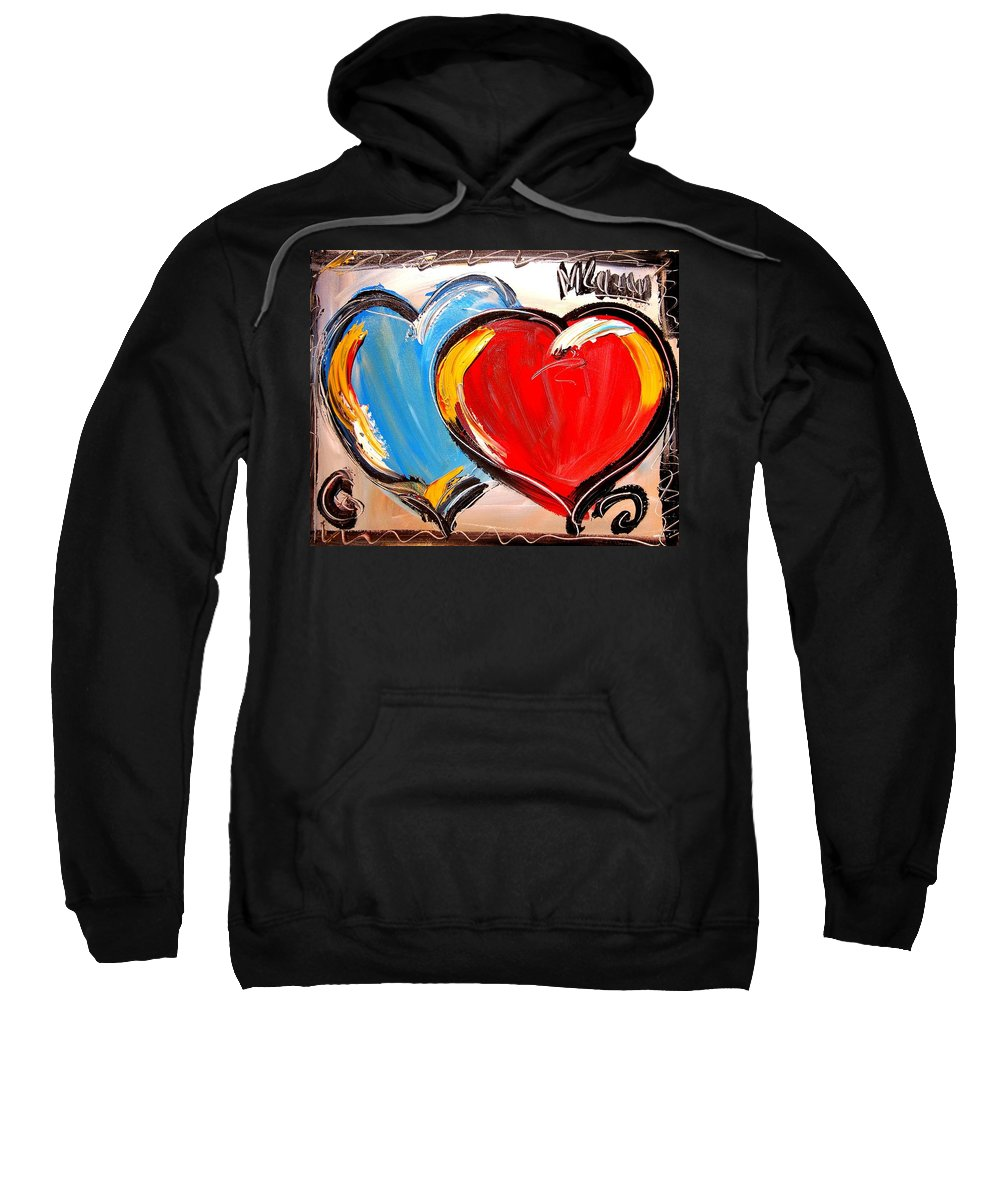 Amazing Framed Prints Sweatshirt featuring the painting Heart by Mark Kazav