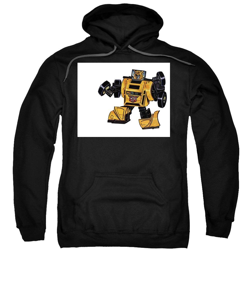 Transformers Sweatshirt featuring the digital art Transformers by Mery Moon