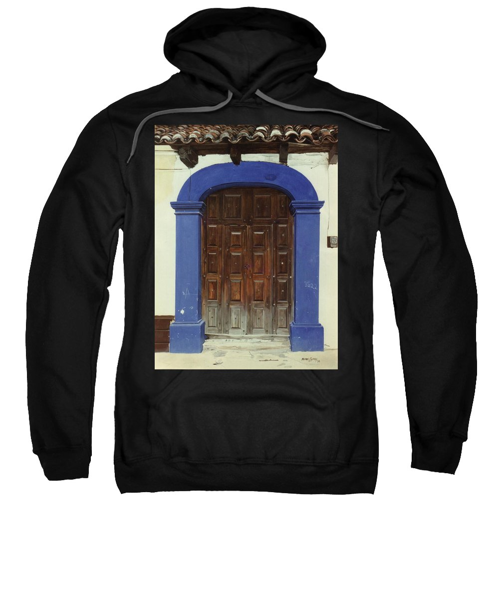 Hyperrealism Sweatshirt featuring the painting 2222 by Michael Earney