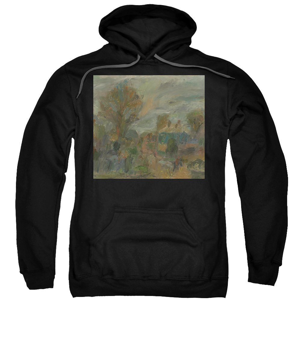 Street Sweatshirt featuring the painting Landscape by Robert Nizamov