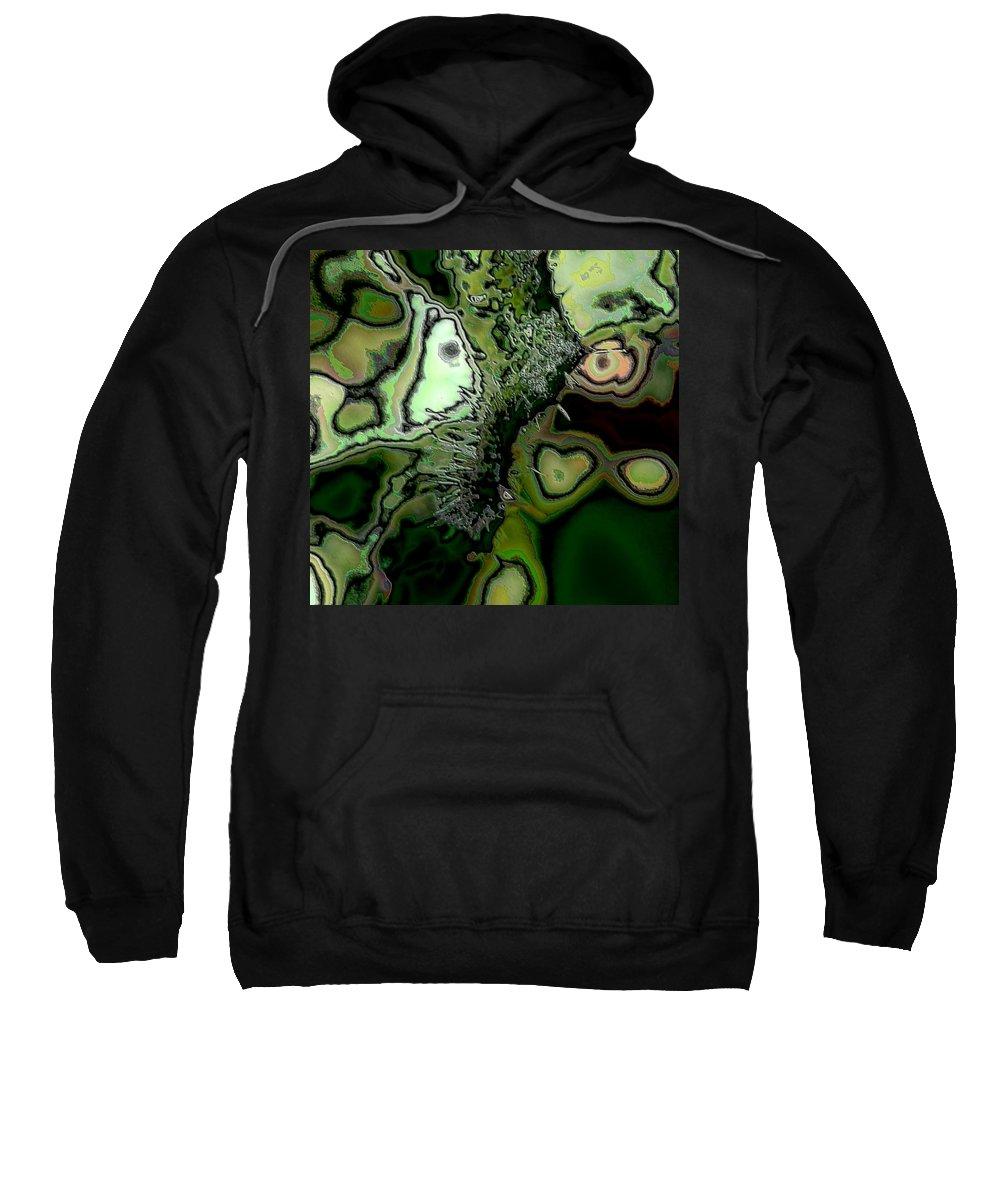 Digital Art Sweatshirt featuring the digital art Abstract by Belinda Cox