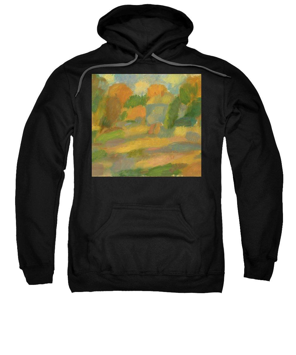 Street Sweatshirt featuring the painting Autumn by Robert Nizamov