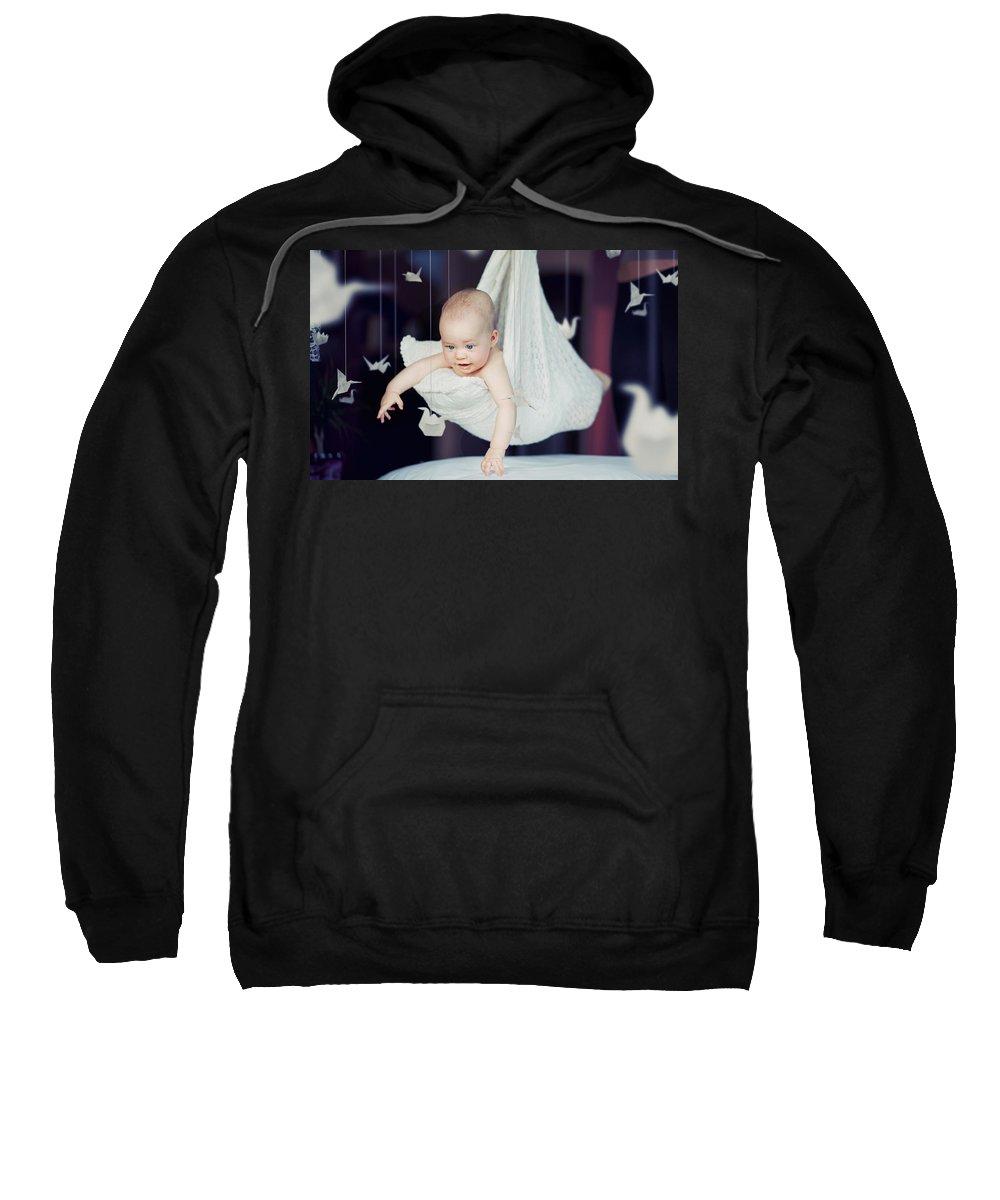 Baby Sweatshirt featuring the digital art Baby by Bert Mailer