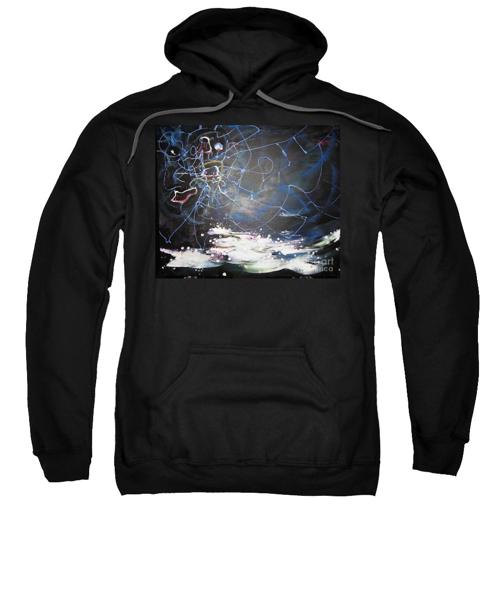 Abstract Paintings Sweatshirt featuring the painting Buckwheat Field by Seon-Jeong Kim