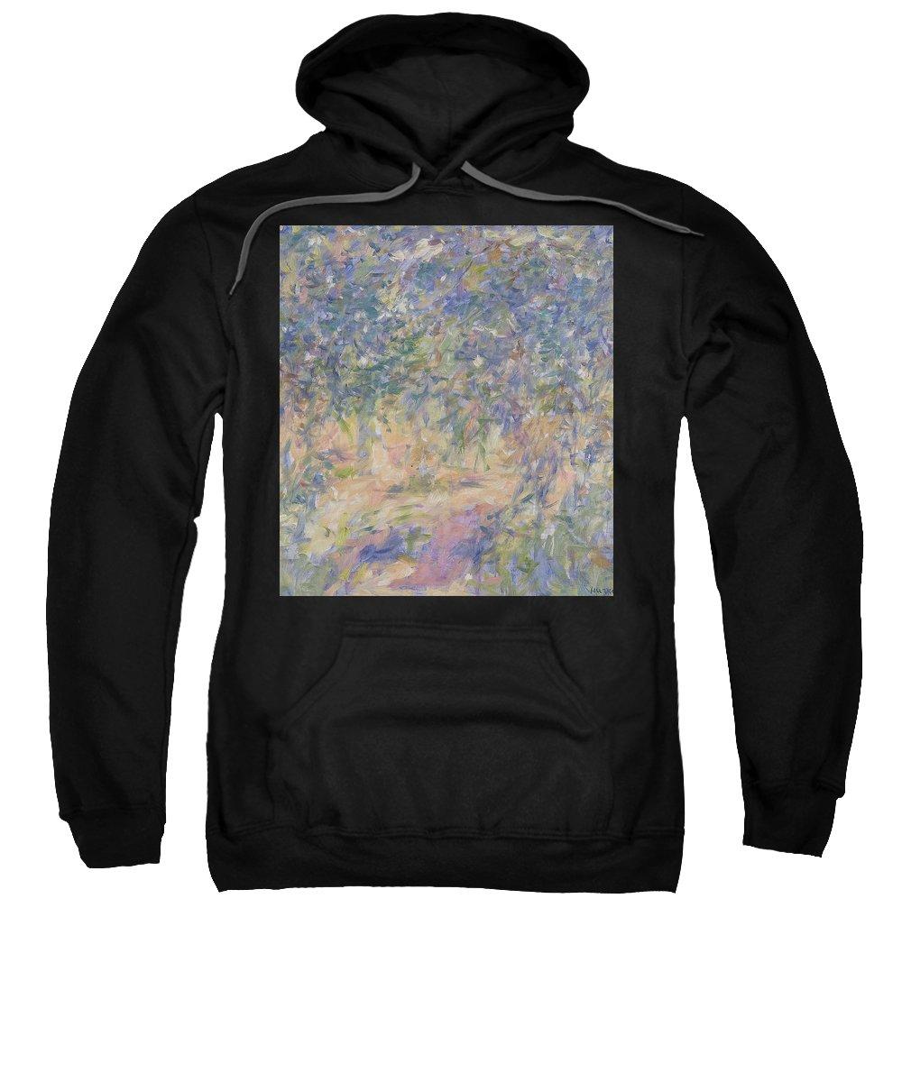 Park Sweatshirt featuring the painting Garden by Robert Nizamov