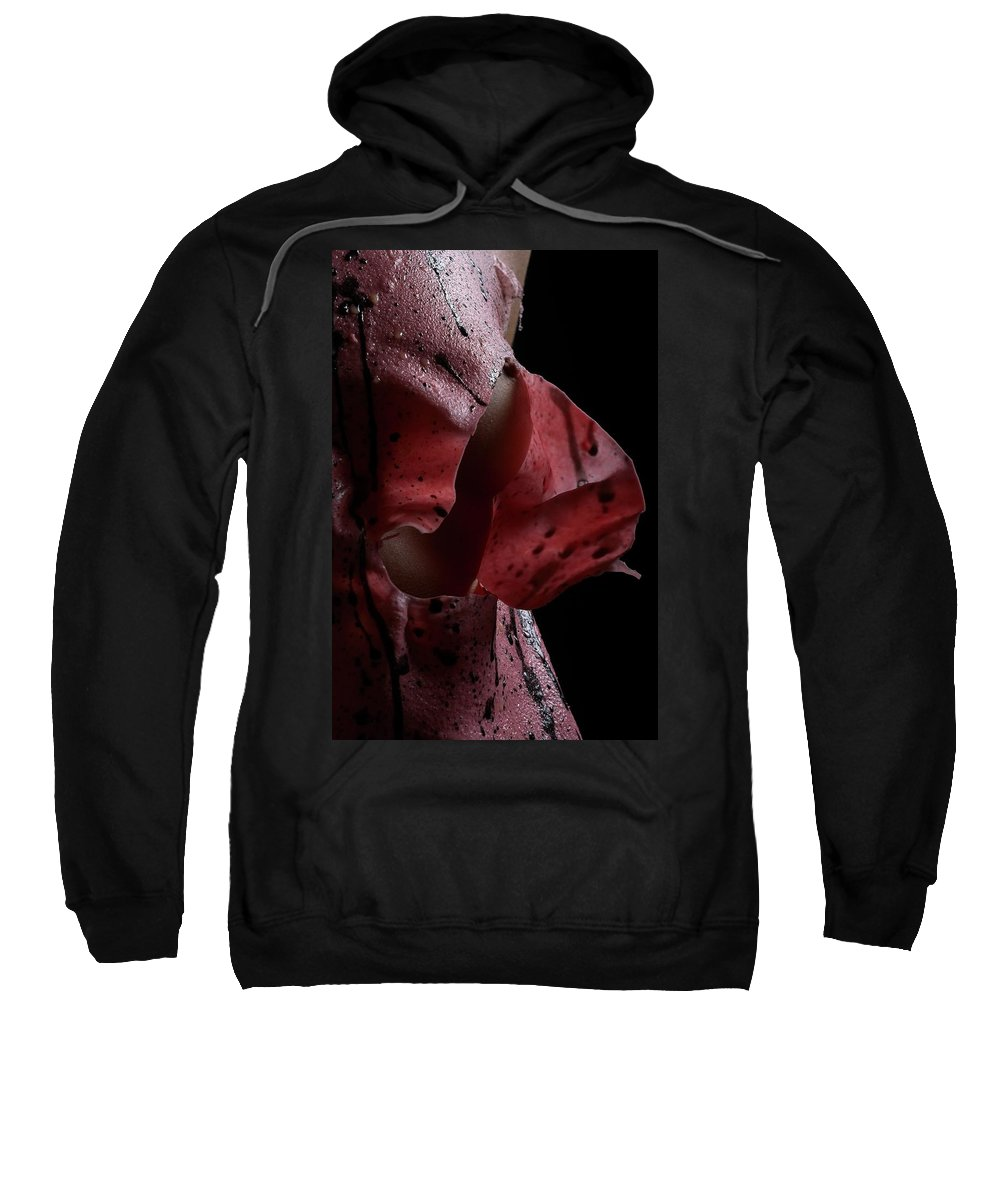 Nude Sweatshirt featuring the photograph Liquid Latex by Pavel Jelinek