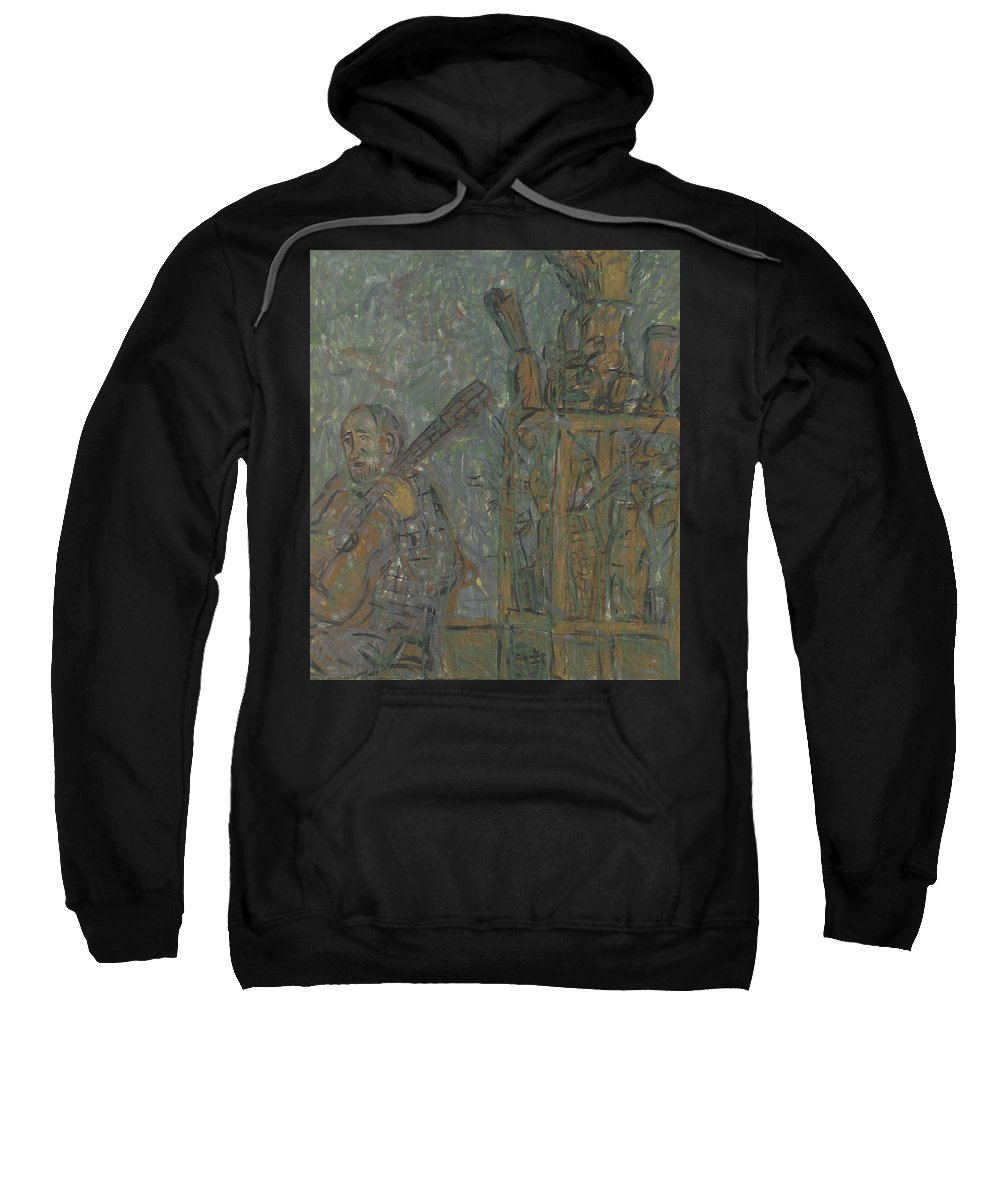 People Sweatshirt featuring the painting Man by Robert Nizamov