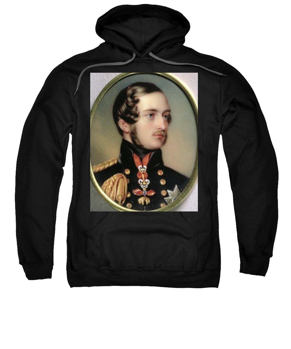 Car Sweatshirt featuring the digital art Prince Albert Henry Pierce Bone by Eloisa Mannion