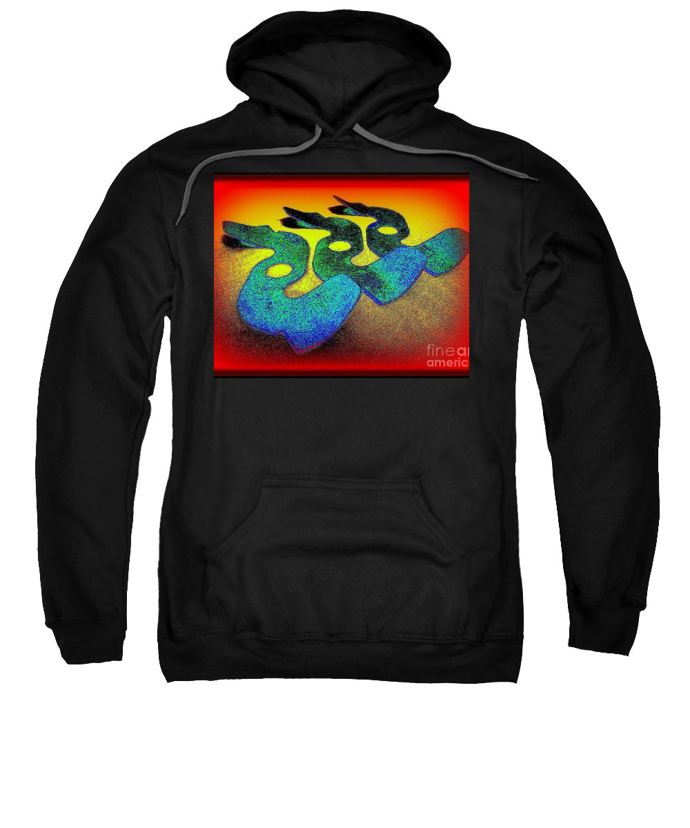 Serpents Sweatshirt featuring the photograph 3 Serpents In The Sand by Peter Ogden Gallery