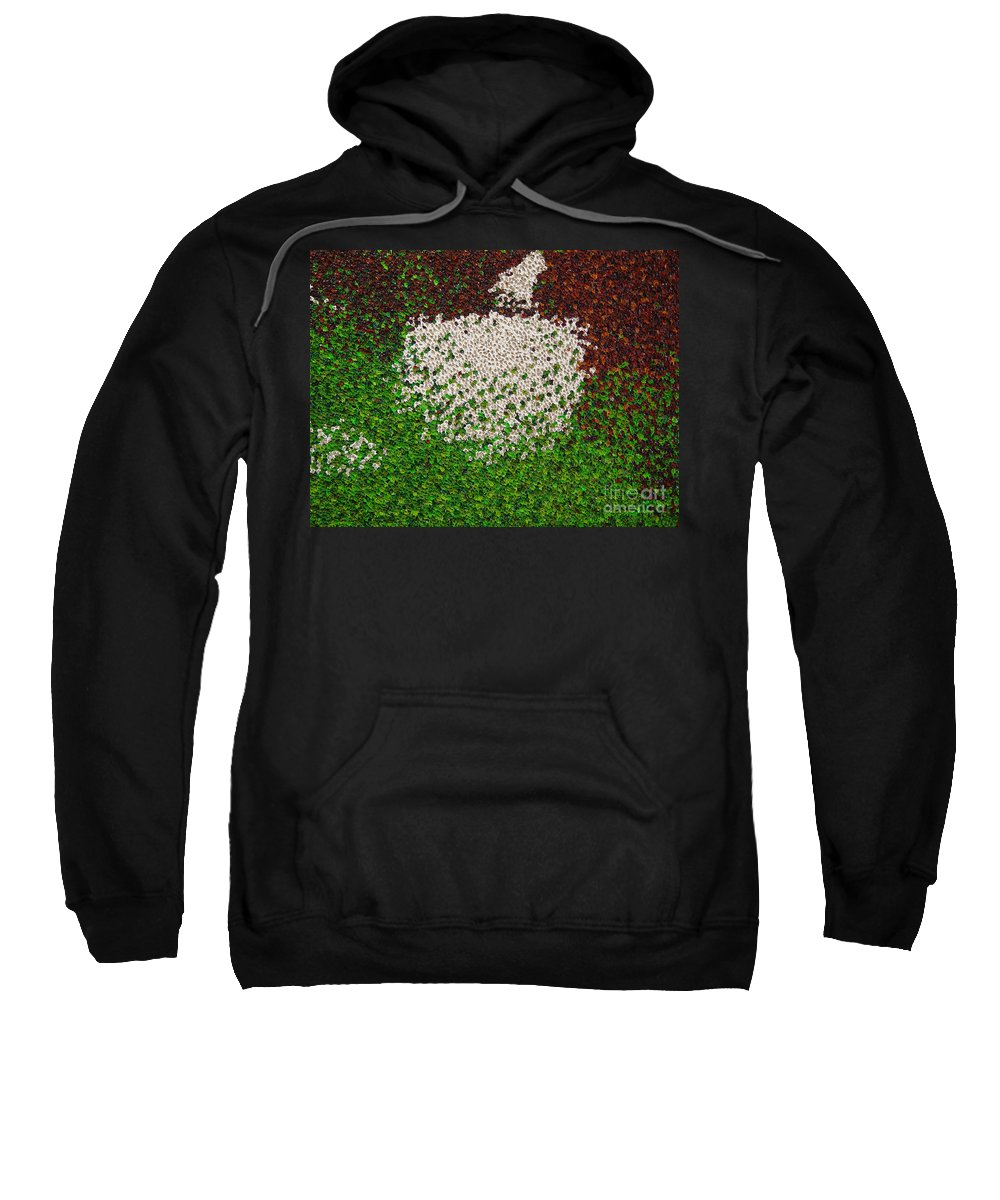 Abstract Sweatshirt featuring the painting Soft Green with Brown, Buff and White by Dean Triolo