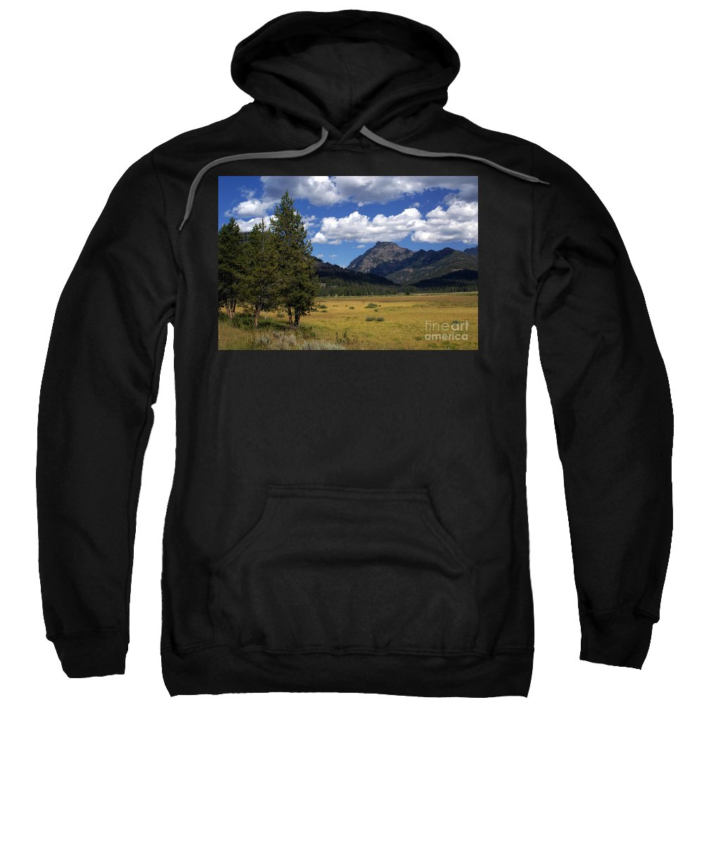 Yellowstone National Park Sweatshirt featuring the photograph Yellowstone Vista by Marty Koch