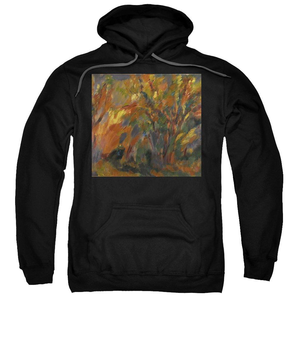 Street Sweatshirt featuring the painting Landscape by Robert Nizamov