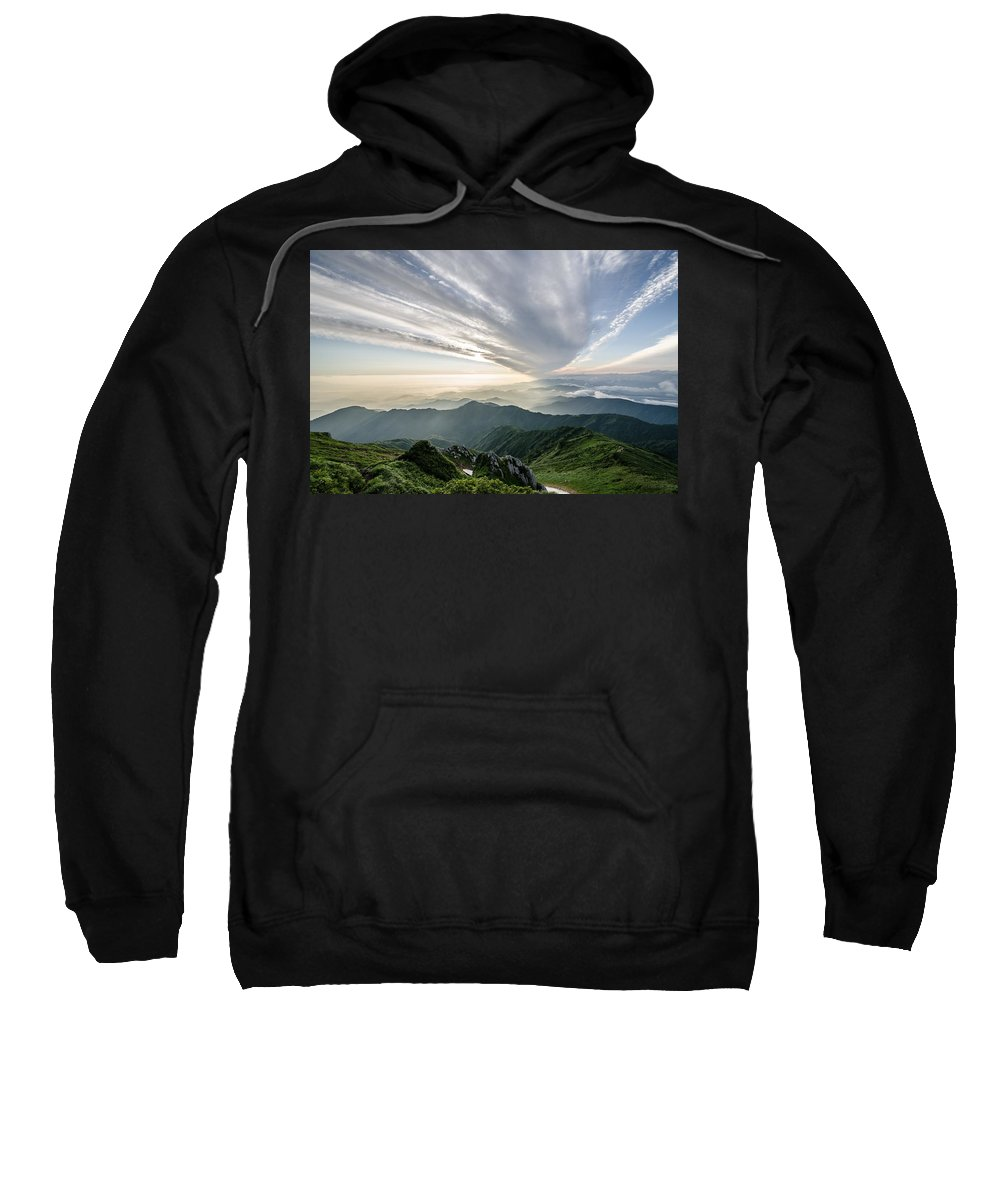 Mount Sweatshirt featuring the photograph Mountains by FL collection