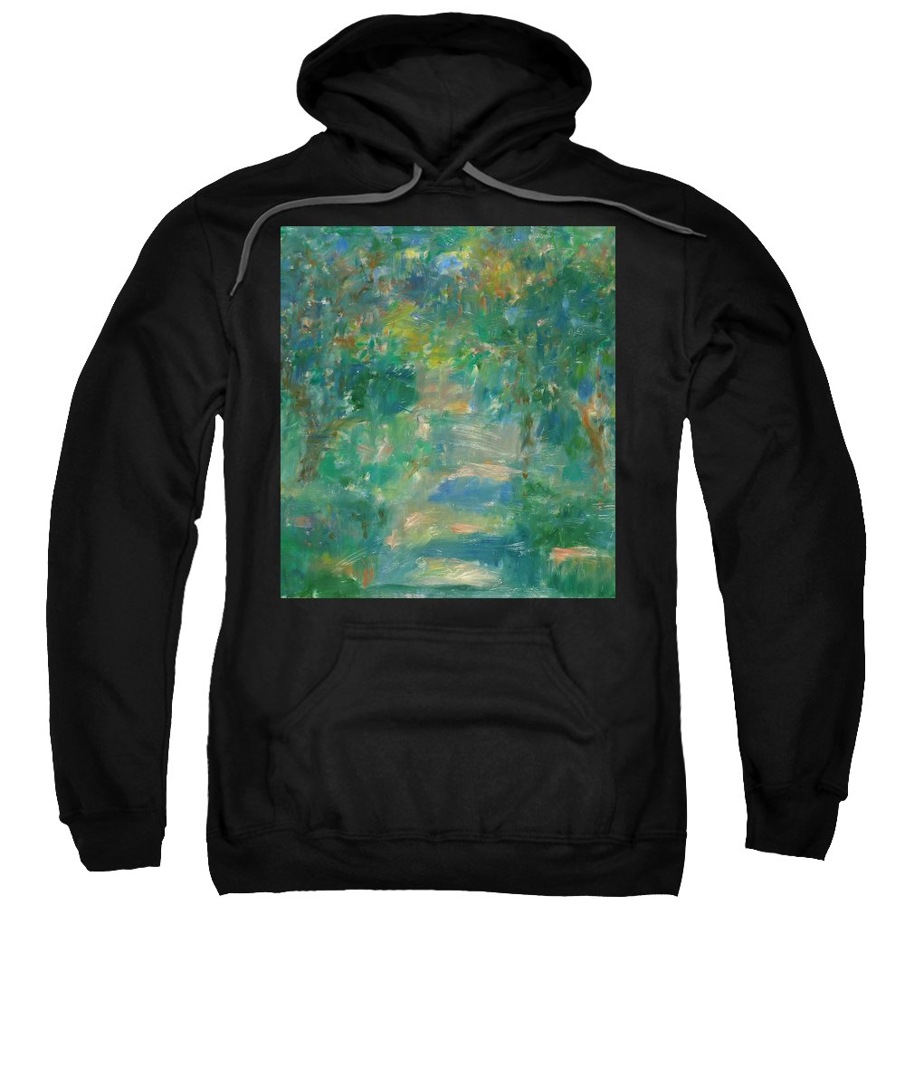 Park Sweatshirt featuring the painting Garden by Robert Nizamov