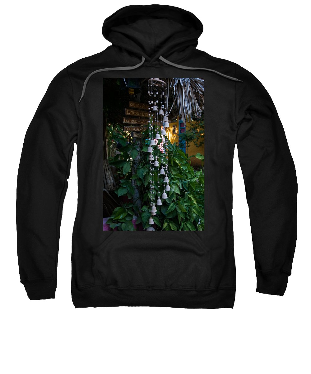 Mexico Yucatan Sweatshirt featuring the digital art Hostal Candelaria by Carol Ailles