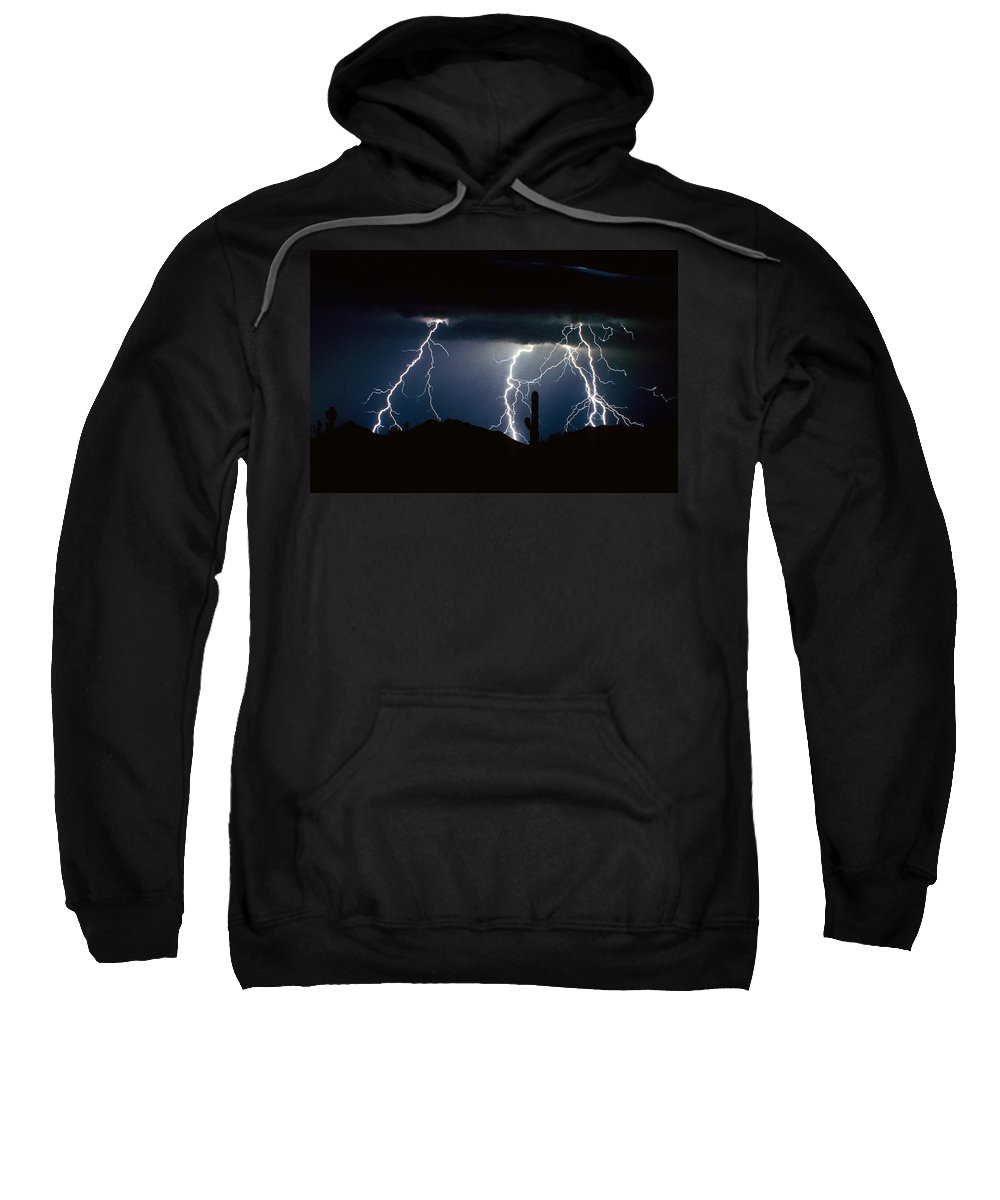 Landscape Sweatshirt featuring the photograph 4 Lightning Bolts Fine Art Photography Print by James BO Insogna