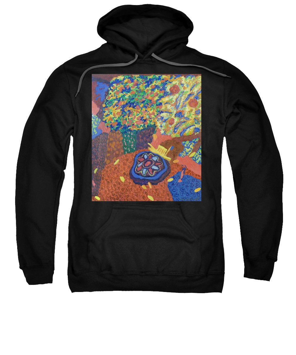 Ship Sweatshirt featuring the painting Still Life by Robert Nizamov